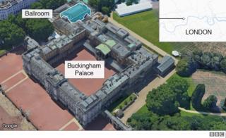 Map showing Buckingham Palace