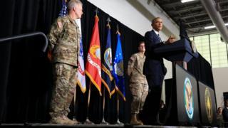 奧巴馬在邁克迪爾空軍基地發表演講(6/12/2016)