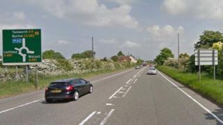 A stretch of the A5 near Lichfield