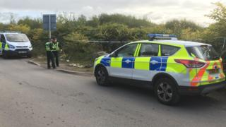 Police were called to the scene, near the Neath Abbey Business Park, on Saturday