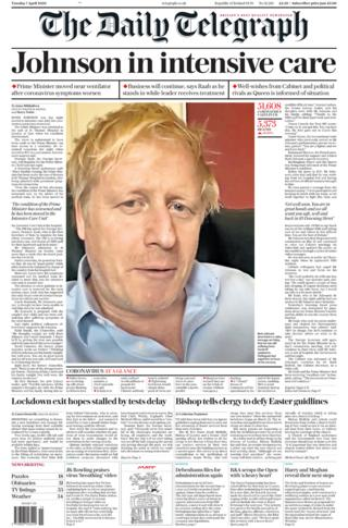 Daily Telegraph 7 April 2020
