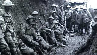 Irish soldiers in World War One