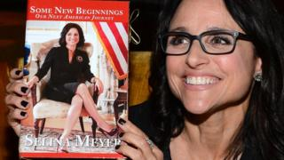 Julia Louis-Dreyfus who plays US President Selina Meyer in Veep