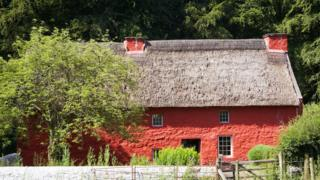 The 17th Century Kennixton farmhouse, from the Gower peninsular, rebuilt at St Fagans National History Museum