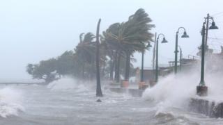 Irma, a su paso por Puerto Rico.
