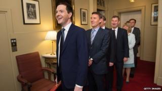 Osborne and treasury team