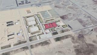 Спутниковый снимок комплекса в Хотане