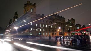 HMRC building at night