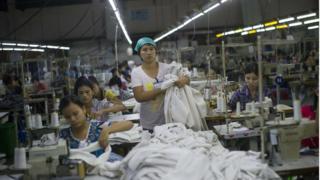 အထည်ချုပ် လုပ်ငန်းခွင်တခု
