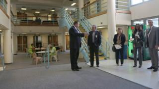 Congressman Mark DeSaulnier visits West County Detention Facility
