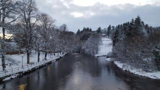 Snowy Llanidloes on Monday