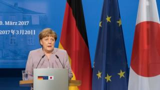 Angela Merkel bugün Japonya'daydı