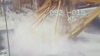 سقوط جرثقیل عظیمالجثه در دوبی