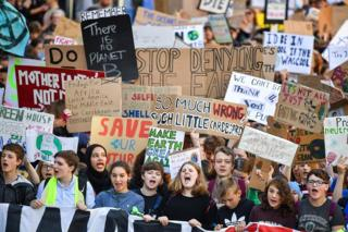 Climate strike protest in Edinburgh