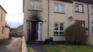 The front of the house in Banbridge that was attacked by arsonists