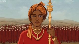 Ilustração da rainha Amina