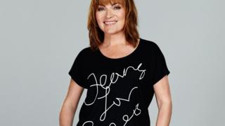 Lorraine Kelly in Jeans for Genes t-shirt