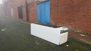Abandoned freezer