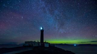 Northern Lights at Ardnamurchan Point