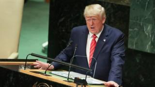 Donald Trump at UNGA 2019