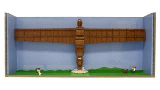 Lego model of Angel of the North