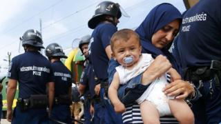 Migranti na granici u Mađarskoj, 3. septembar 2015. godine