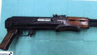 The Kalashnikov that was taken from the house