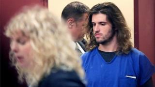 Suspended University of Wisconsin-Madison student Alec Cook appears in Dane County Circuit Court in Madison, Wisconsin.