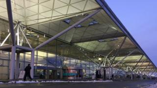 The front of London Stansted Airport.