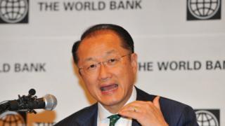 Perezida wa Banki y'isi, Jim Yong Kim.