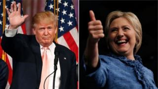 Donald Trump iyo Hillary Clinton