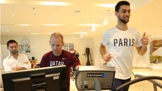 Javier Pastore training at Aspetar