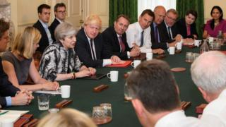 The first cabinet meeting with the new cabinet