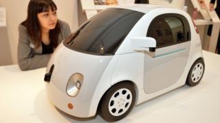 Prototype model of Google's driverless car