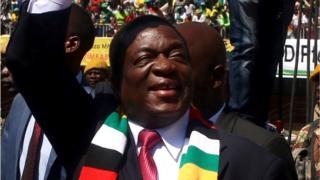 Mnangagwa at this inauguration