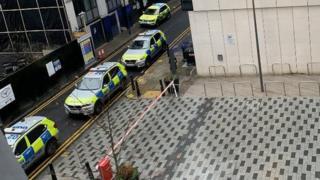 Police cars on Buckle Street