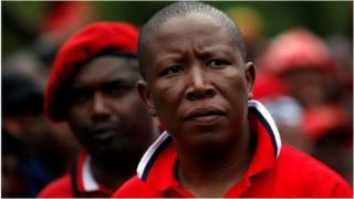 Julius Malema umukuru w'umugambwe utavuga rumwe na reta wa EFF