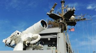 Sistema de laser em embarcação americana