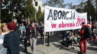 Warsaw protest against proposed abortion ban, 3 Apr 16