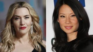 in_pictures Composite picture showing British actress Kate Winslet and American actress Lucy Liu
