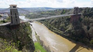 The Bristol suspension bridge