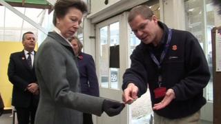 Egre with Princess Anne