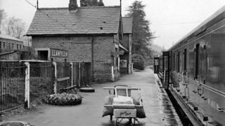Llanfyllin station in 1960