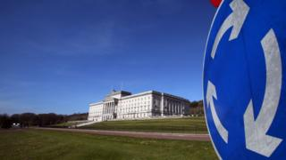 Parliament Buildings, the seat of the Northern Ireland Assembly, on the Stormont estate in Belfast, Northern Ireland, 27 March 2017