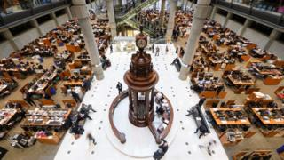 Interior of Lloyd's of London