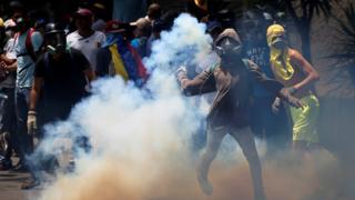 Clashes in Venezuela. Photo: 19 April 2017