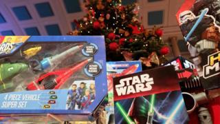 Thunderbirds and Star Wars-themed toys