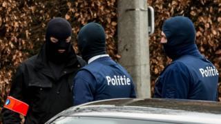 Belgian police in Villa Marquette, 31 March