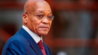 South African president, Jacob Zuma,