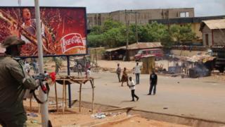 Une rue d'Onitsha, dans le sud-est du Nigeria